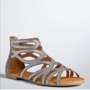 Torrid Gray scallop gladiator sandals size 11 NEW
